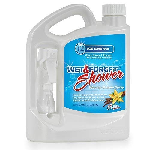 Wet & Forget Shower Cleaner Weekly Application Requires No Scrubbing, Bleach-Free Formula, 64 OZ. Ready to Use