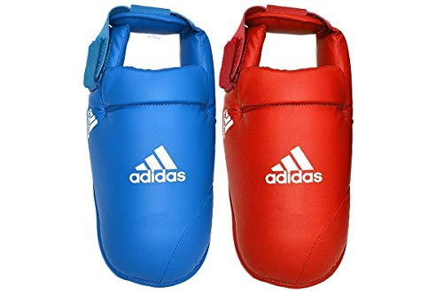 adidas Herren Foot Protector WKF Karate Martial Arts Fußschutz, rot, medium