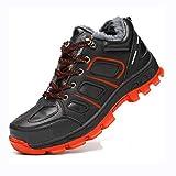 XLYAN Zapatos Protección Zapatos Impermeables De Seguridad para El Invierno Botas para Hombres Botas con Punta De Acero Botas para Hombres Negro 36-47,Lowhelp-black-41