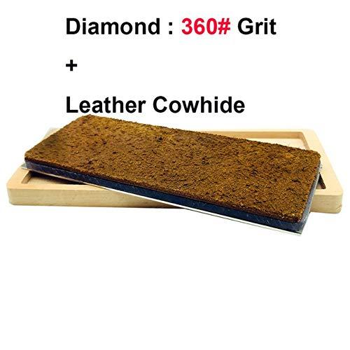 Gouen Leather Honing Strops toevoegen Diamond wetsteen bar Slijpsteen Polijsten Hone Block Wetsteen mes Tool Hout antislip basis, als foto