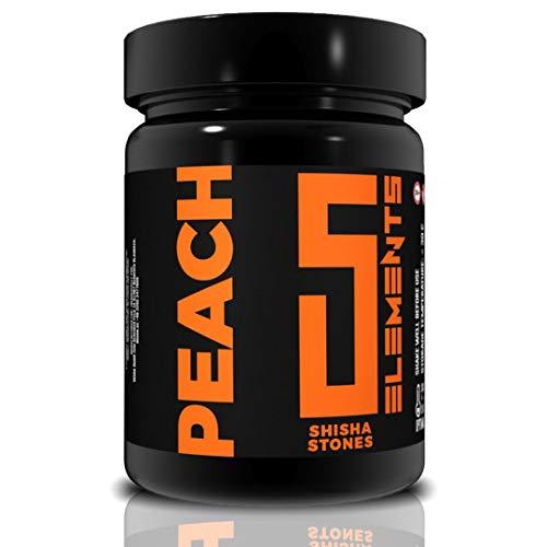 5ELEMENTS SHISHA STONES PEACH 1KG | Dampfsteine | Aroma Steine | Hookah Flavour Steine | Für Shisha Kopf | Intensiver Geschmack | leichte Anwendung | Pfirsich