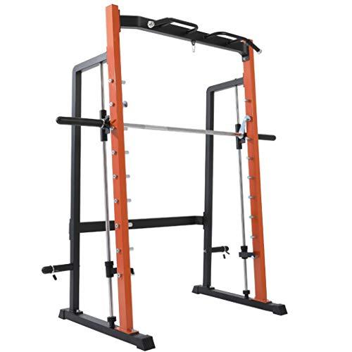 Jaula para levantamiento de pesas con rejilla para Barbell Bench soporte de pórtico en cuclillas rack contador equilibrada Smith Máquina de Superación Integral Equipamiento de Fitness Entrenamiento de