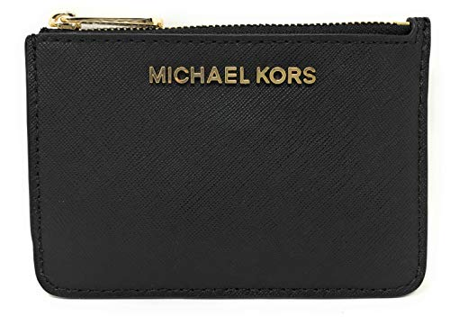 Michael Kors Jet Set Travel Small Top Zip Coin Pouch with ID Holder in Saffiano Leather