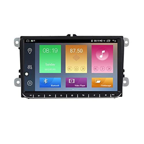 Unidad principal Android 10.0 Estéreo para automóvil Compatible con Volkswagen navegación GPS universal Pantalla táctil de 9 pulgadas Reproductor multimedia MP5 Receptor de video y radio con 4G DSP C