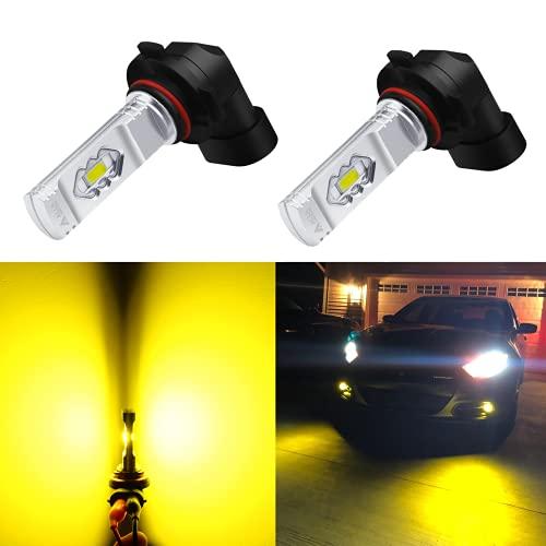 Alla Lighting 3800lm 9145 9140 H10 LED Fog Lights Bulbs 9155 PY20D Base, 3000K...