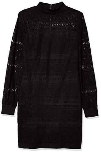 Guess Vestido de encaje negro para mujer - Negro - 44