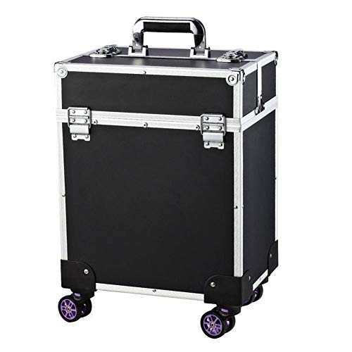 QINYUP Tragbare Amakeup Lagerung Toolbox Retractable Trolley-Koffer