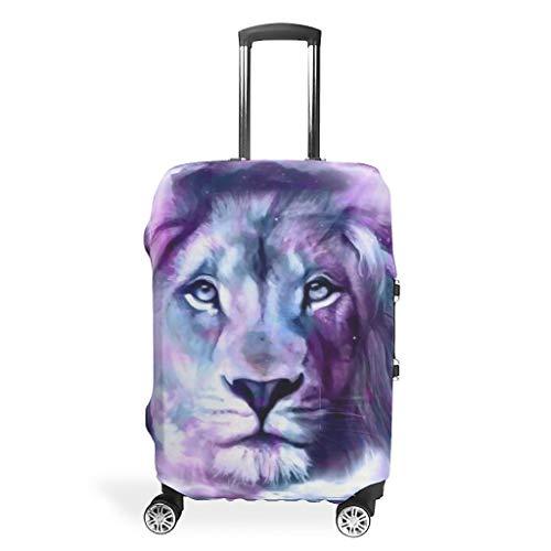 Fundas elásticas para maletas de viaje, diseño de tigre y león de viaje, varios tamaños, para muchos equipajes, White (Blanco) - Viiry-XLXT-24