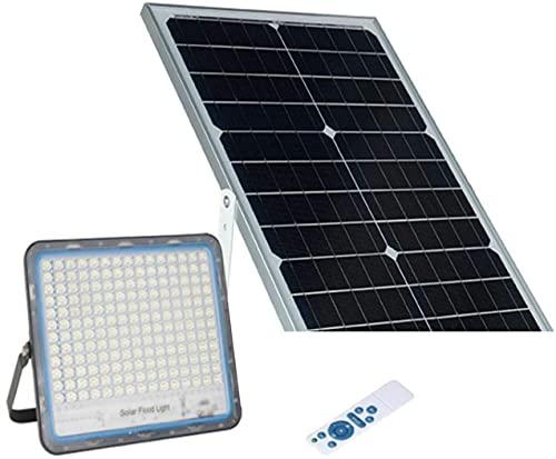 AntDau71 - 300W Faro LED Esterno con Pannello Solare Luce Bianca 6000K Faretto Solare LED con Telecomando Materiale in Alluminio Impermeabile IP67 5000lm Energia Fotovoltaica Illumina tutta la notte