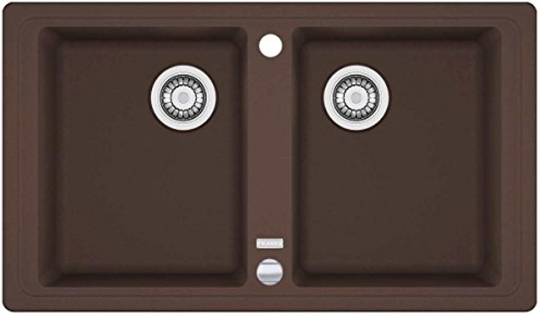 Franke Basis BFG 620 Chocolate Garnit Spülbecken Braun Doppelbecken Küchenspüle