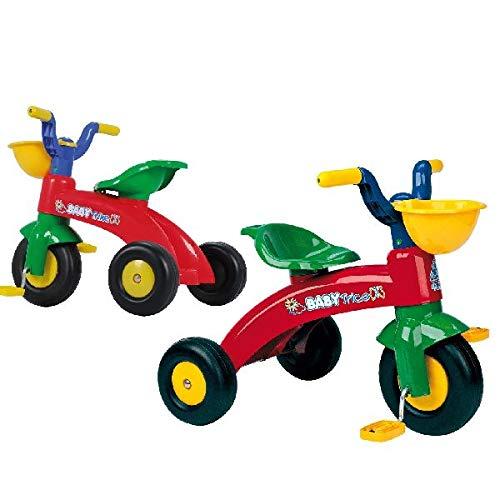 INJUSA Triciclo Trico con Cesta Delantera Color Rojo y Verde 12m+ 676007