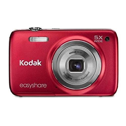 Kodak M565 EasyShare Digitalkamera (14 Megapixel, 5-fach opt. Zoom, 6,9 cm (2,7 Zoll) Display, 23 bis 130 mm Brennweite, bildstabilisiert) rot