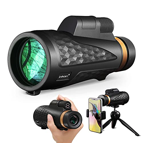 Monocular Telescope 18x 62 High Power HD BAK4 Prism Cosmic Scope Monocular with iPhone Smartphone Holder and Tripod, Low Night Vision and Day Monocular for Adults Kids Birding Hunting Hiking