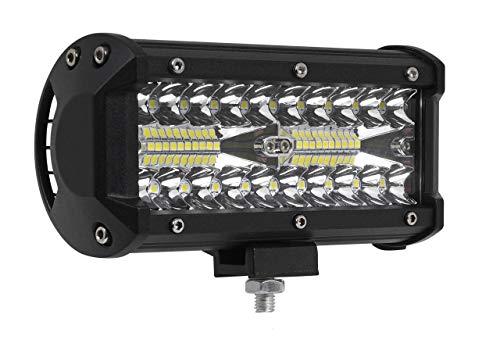 """1x LED-Fernscheinwerfer Scheinwerfer Light Bar 7"""" 10cm 120 Watt 40x CREE LED Super Hell mit ECE-Zulassung Eintragungsfrei Straßenzulassung~"""