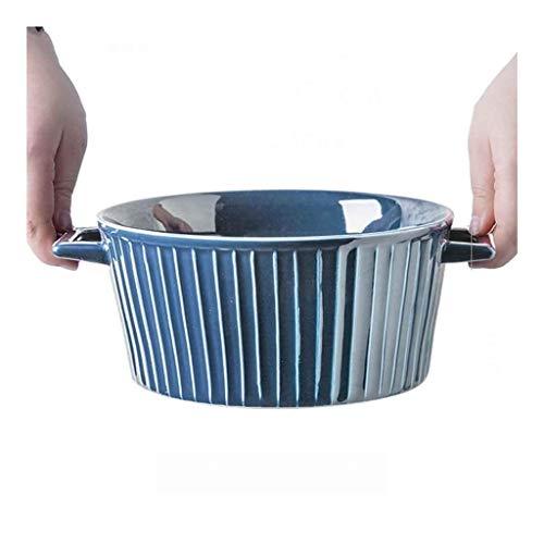 Cuenco de la cultura popular tazón de sopa, 8,5 pulgadas oídos retro cerámica tazón de ramen masa del tazón de ensalada de frutas cuencos de postre cocina de un restaurante tazón vajillas bocado bowl