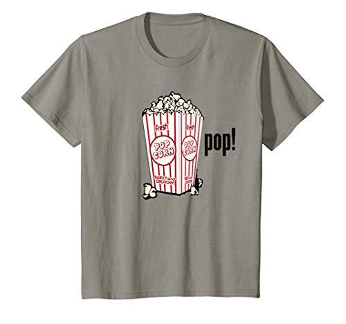Kids Movie Popcorn Pop T-shirt Boys Girls Youth Children Bucket