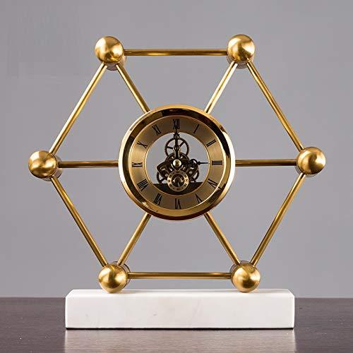 QMZZN Escultura De Decoración del Hogar Decoración De La Estatua Escultura del Hogar Relojes Y Relojes Relojes De Péndulo Sala De Estar Relojes De Escritorio Grandes Relojes Relojes De Péndulo Mud