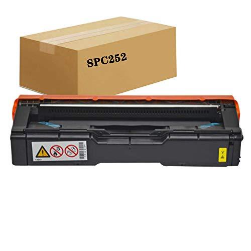KSBIAO Compatible con Cartucho de tóner Ricoh Aficio SP C252DN C262SFN C262DNW para Impresora Ricoh Aficio SP C252DN SPC252 C252SF C252DN 262DNW.-Yellow