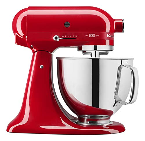 KitchenAid KSM180QHSD 100 Year Edition Queen of Hearts Stand Mixer Passion Red