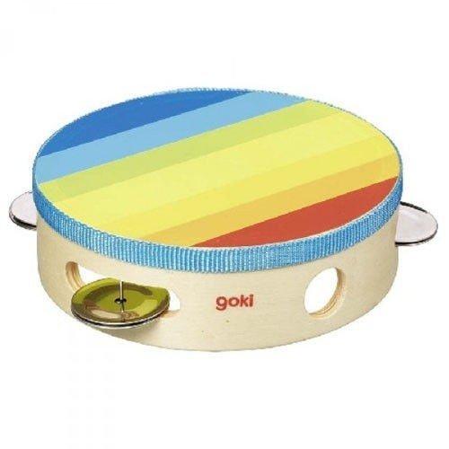 Goki 61920 - Musikinstrument - Tamburin mit Schellen