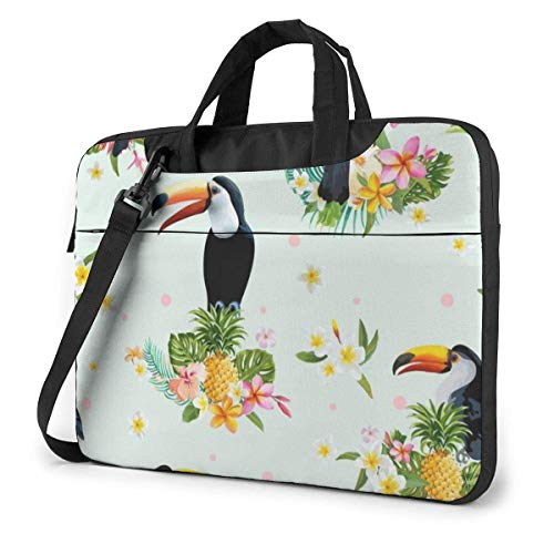 Tropical Plants Pineapple Funnny (45) 15.6 in Laptop Bag Anti-Collision Notebook Computer Protective Cover Handbag Shoulder Bag