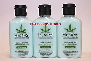 Hempz Triple Moisture Herbal Whipped Body Creme, 2.25 Ounce