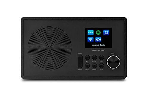 Medion MD 87528 WLAN Internet-UKW Radio (RDS, Spotify, USB, AUX in, DLNA, UPNP) schwarz