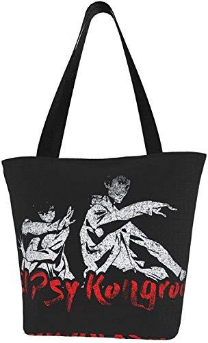 Nigel Tomm Bolsos de lona de Anime con cremallera Bolsos de compras reutilizables Bolsos de mano para regalo Diversión Cosplay Viaje