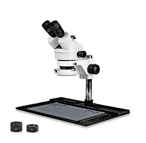 Vision Scientific vs-10fz-ifr07Trinokular Stereo Zoom 7x 45x Mikroskop mit Barlow Linse, 144-led Ring Licht, Reparatur und Wartung Plattform für Löten und, Handy Reparatur