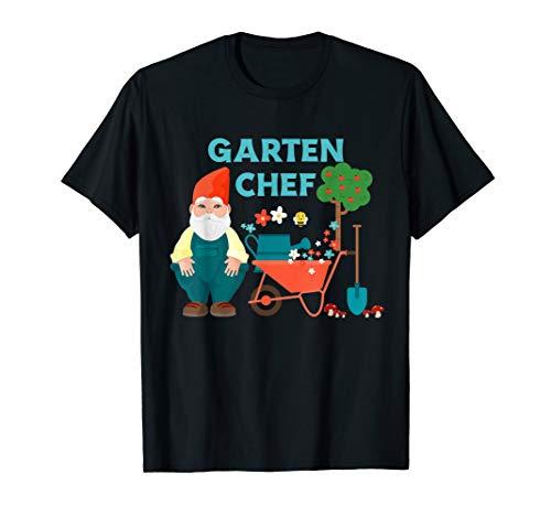Gartenzwerg Gärtner mit Gießkanne Schubkarre Schaufel - Deko T-Shirt