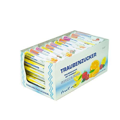 Traubenzucker mit Vitamin C, Sofortenergie, Flowpack mit 3 Rollen, 96 g