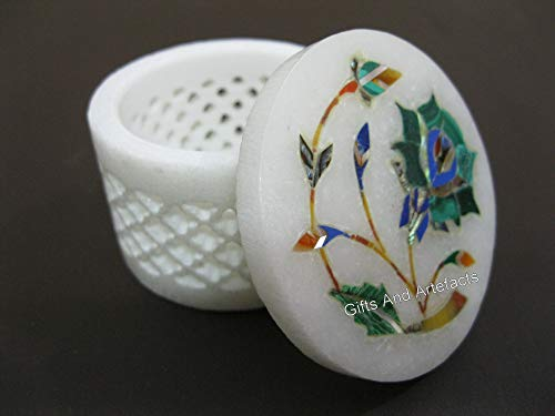 Malachit-Steinkunst-Schmuckkästchen, 6,3 cm, aufwändige Nadel-Box, bestes Geburtstagsgeschenk für Mädchen