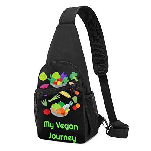 My Vegan Journey Multipurpose Diagonal Chest Bag Sling Bag Shoulder Crossbody Daypacks Mini Travel Organizer Pouch Bags