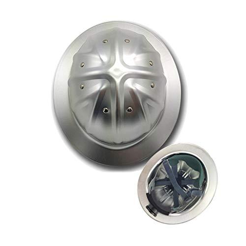 Cascos de Ala Completa de Aleación de Aluminio, La Ranura de La Nervadura Superior Está Fijada por Ocho Remaches Reducción de Vibraciones de 4 Puntos Cascos de Ingeniería Del Sitio Color de Aluminio ⭐