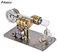 Aibecy Hot Stirling Engine Motor Model Electricity Generator Metal Base Ciencia Juguete educativo