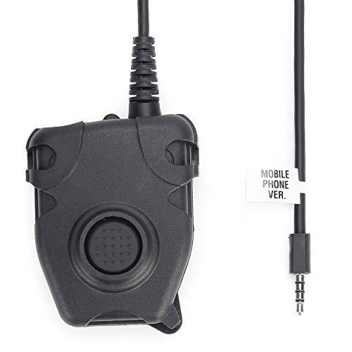 ZTAC Peltor PTT Kopfhörer für Mobiltelefon, Push to Talk für Walkie-Talkie-Talkie-Talkie Z112