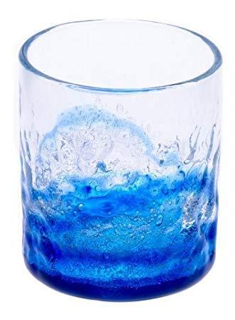 琉球ガラス村『潮騒でこぼこグラス』