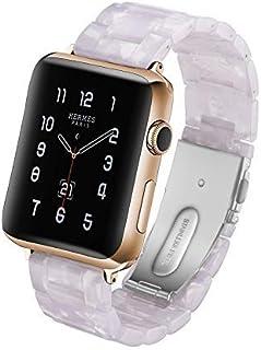 Correa de Reloj de Resina Love Dfch para Apple Watch Series 5 y 4, 44 mm, Serie 3, 2 y 1, 42 mm, Color Blanco