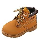 Botas de Niño,Otoño e Invierno 1-6 años Niño Niña Bebe Zapatos Martín Botas de Botines Zapatillas Tamaño EU 21-30 (24 EU, Amarillo Soltero)