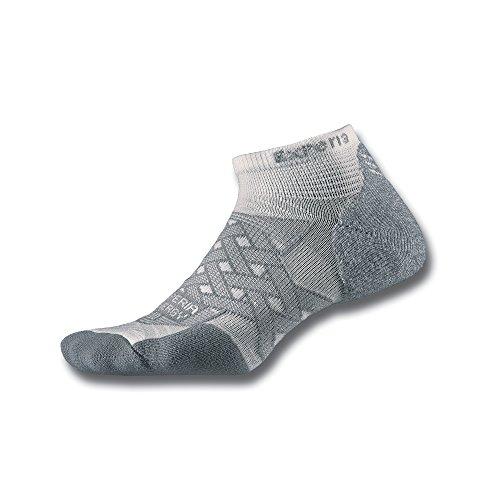 Thorlo Experia Herren Compression Low Cut Socken, weiß, Large