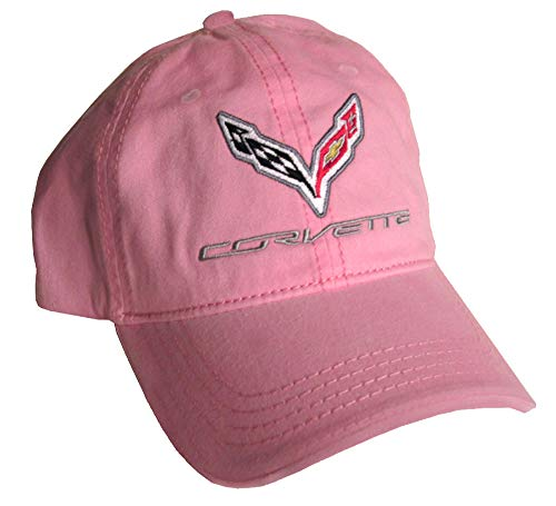 Gregs Automotive Compatible Corvette C7 Hat Cap Chevrolet Chevy Pink - Bundle with Driving Style Decal