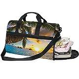 Dallonan - Bolsa de Deporte para Hombre, tamaño Grande, con Compartimento para Zapatos, para Mujer