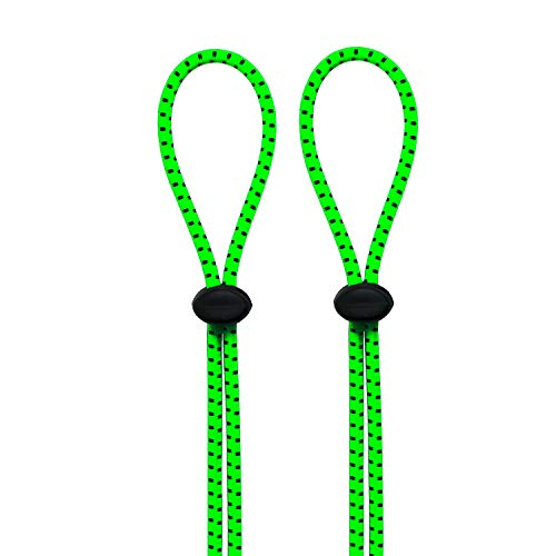Swimming Goggles Bungee Strap Rope Buckle Tighter to Strengthen The Elastic Rope Buckle not Easy to Trip ((2-Pack) Neon Green)