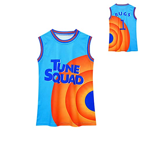 S-pace 2 Movie Tank Tops for Boys Novelty Sports Jerseys Little Kids Fashion Cartoon Graphic Tops Tees Child 90s Hip Hop Party Shirts for Sports Fans #1#6 B-ugs Halloween Costumes Blue Orange