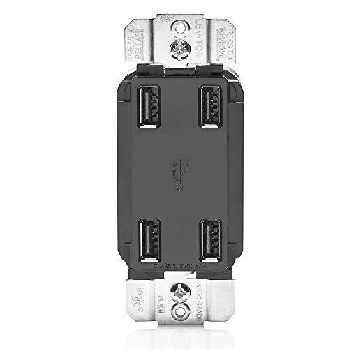 Cargador USB de alta velocidad de 4,2 Amp (4 puertos) de Leviton.