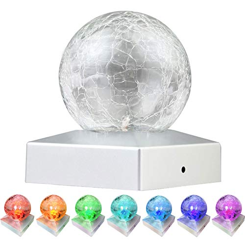 4x4 Solar Post Cap Lights - SunnyPark Deck Fence Outdoor Railing Lights Decorative Solar Powered Gazing Ball Caps LED Lamp for Garden, Patio, Pathway