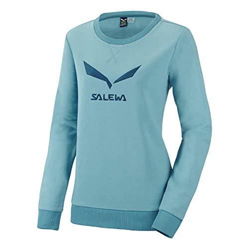 Salewa Solidlogo 2 Co W Swtsrt - Sweat-Shirt pour Femme, Couleur Bleu, Taille 48/42
