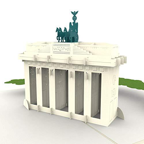 PaperCrush® Pop-Up Karte Berlin Brandenburger Tor [NEU!] - 3D Gutscheinkarte für Städtereise, Berlin Reisegutschein - Besonderer Hotelgutschein, Gutschein für Hotel