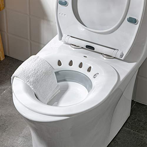Mumaya Bidé de Inodoro portátil, bidé Sanitario acoplable al Inodoro, bañera Plegable para Inodoro, se Adapta a inodoros universales y Silla con Inodoro