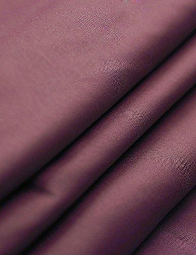 Ohoo Mens Slim Fit Long Sleeve Flexibility Casual Button Down Shirt Added Darts/DCC003-BURGUNDY-XL/US L